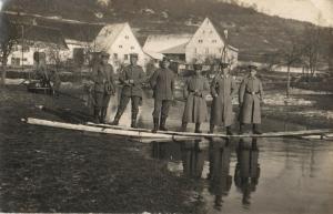 Originalfoto 9x13, Pionierübung bei Rastatt, 1915