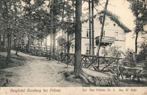 Foto AK, Pillnitz, Berghotel Borsberg, 1915