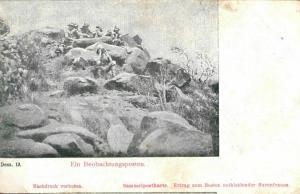 Foto AK, Burenkrieg, Ein Beobachtungsposten, ca. 1900