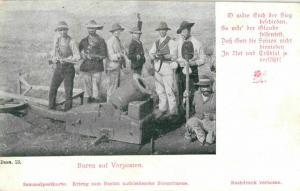 Foto AK, Burenkrieg, Buren auf Vorposten, ca. 1900