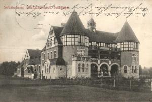 Foto AK, Soldatenheim Hohenzollernhaus, Sennelager, 1913