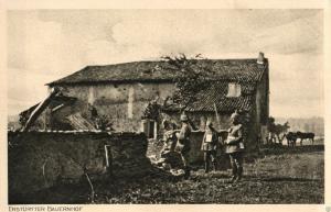 Foto AK, Erstürmter Bauernhof