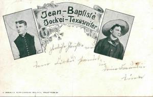 Foto AK , Jean-Baptiste, Jokei-Texasreiter, 1912