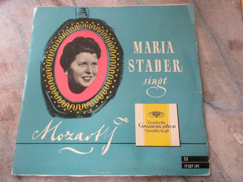 LP Maria Stader singt Mozart Dt  Grammophon Gesellschaft 1956