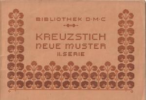 Kreuzstich Neue Muster Bibliothek D.M.C  ca. 1910