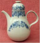 Heinrich Porzellan Teekanne / Kaffeekane ca. 1,3 Liter Volumen.  Mit blauem Bl�tenmuster
