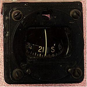 Kompass Magnetic - US Airforce - Flugzeug Bordinstrument - Type : MB-1  Von Airpath Instrument Company 4