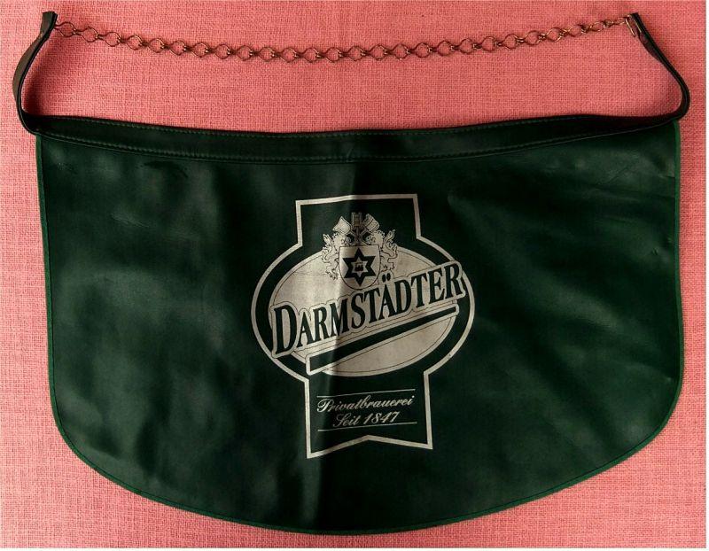 Darmstädter Bier - Ausschank-Schürze Kellnerschürze - 1980er Jahre