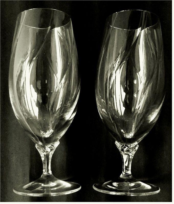 2 x Nachtmann Opal Bierglas / Biertulpe - Bleikristall-Glas mit ca. 0,3 Lt. Volumen