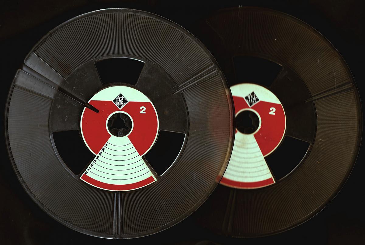 2 x Telefunken Tonband-Leerspule - ca. 18 cm Durchmesser  0