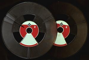 2 x Telefunken Tonband-Leerspule - ca. 18 cm Durchmesser