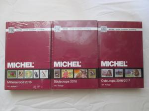 1.) MICHEL Europa-Katalog - Band 1 Mitteleuropa 2016 (OVP) + 2.) MICHEL Europa-Katalog - Band 3 Südeuropa 2016 (OVP) + 3.) MICHEL Europa-Katalog - Band 7 Osteuropa 2016/2017 (OVP)