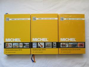 1.) MICHEL Europa-Katalog - Band 2 Südwesteuropa 2015 + 2.) MICHEL Europa-Katalog - Band 3 Südeuropa 2015 + 3.) MICHEL Europa-Katalog - Band 4 Südosteuropa 2015/2016 (OVP)