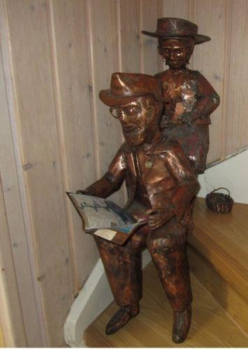 2 Kupferfiguren Handarbeit Einzelstücke