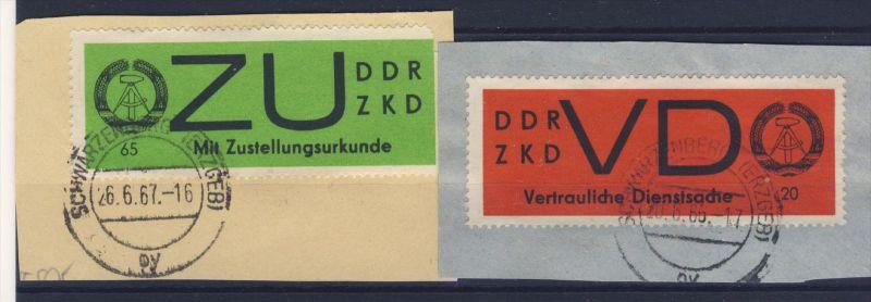 DDR Dienst Gruppe D Michel No. 2 x , 3 x gestempelt