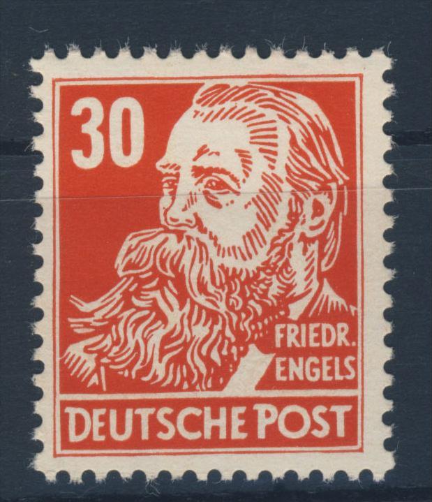 DDR Michel No. 335 va X II ** postfrisch