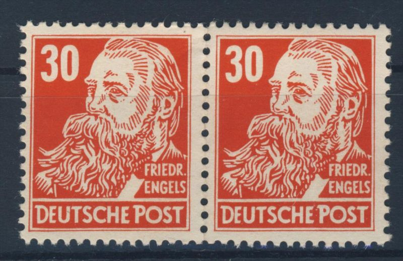 DDR Michel No. 335 va X II ** postfrisch Paar