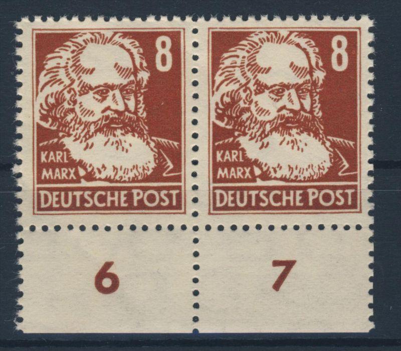 DDR Michel No. 329 z X II ** postfrisch Paar