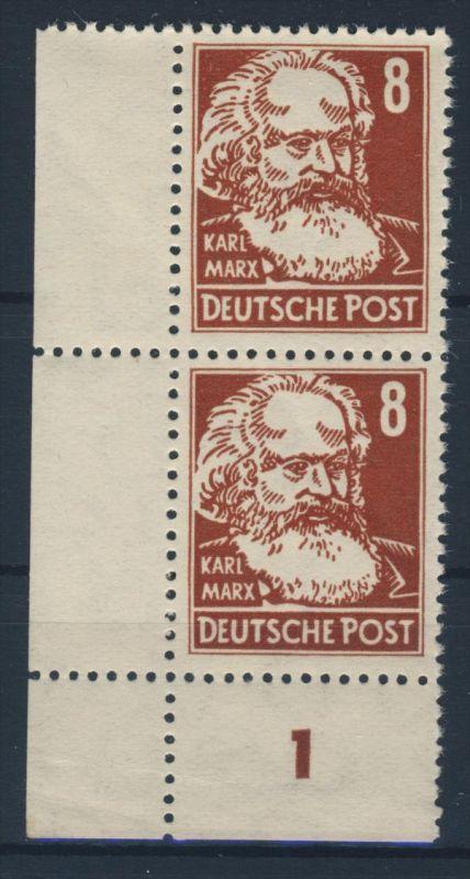 DDR Michel No. 329 z X II ** postfrisch Paar Eckrand