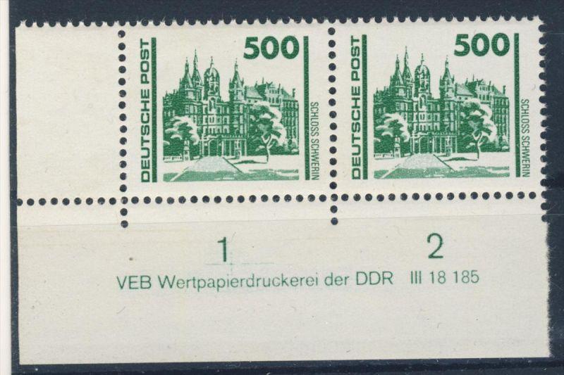 DDR Mi No. 3352 ** postfrisch DV Druckvermerk