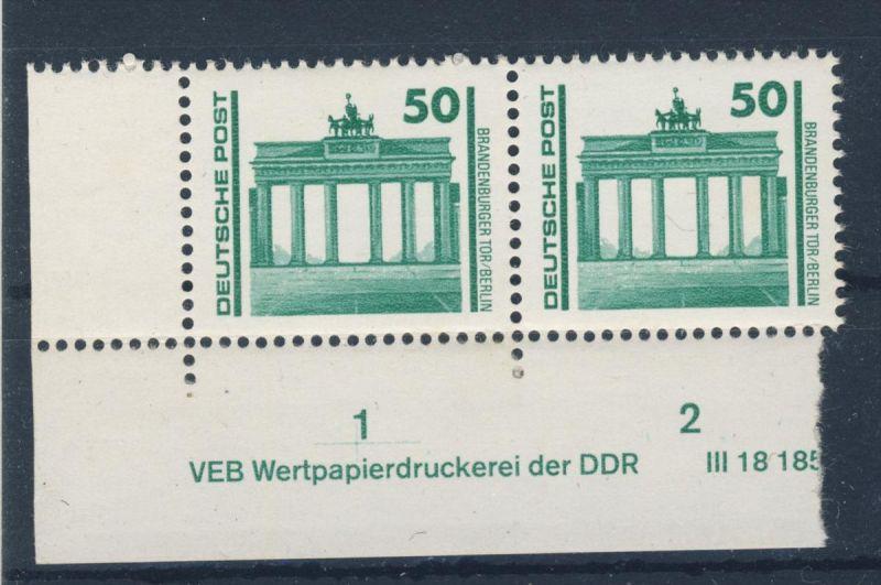 DDR Mi No. 3346 ** postfrisch DV 1 Druckvermerk
