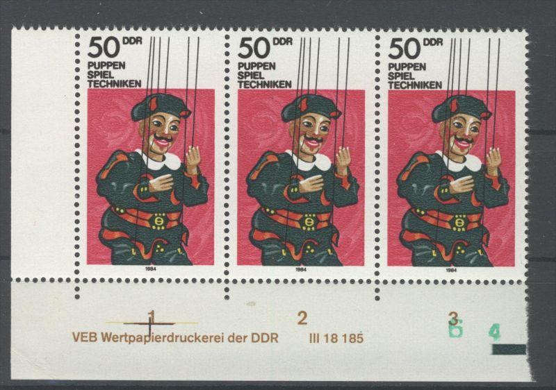 Lot DDR Michel No. 2876 , 2920 , 2922 , 3017 , 3044 ** postfrisch DV Druckvermerk