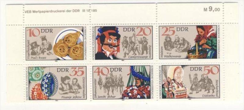 Lot DDR Michel No. 2716 - 2721 , 2878 - 2879 , 2894 ** postfrisch DV Druckvermerk