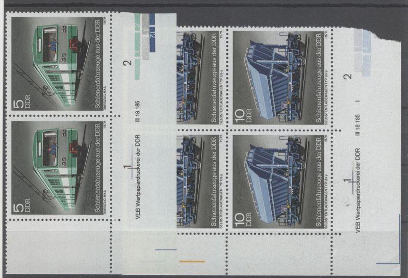 Lot DDR Michel No. 2414 - 2415 , 2444 , 2459 , 2461 , 2487 , 2488 , 2548 ** postfrisch DV Druckvermerk