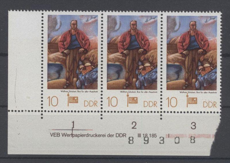 Lot DDR Michel No. 2247 , 2316 - 2317 , 2353 , 2355 , 2405 , 2418 ** postfrisch DV Druckvermerk