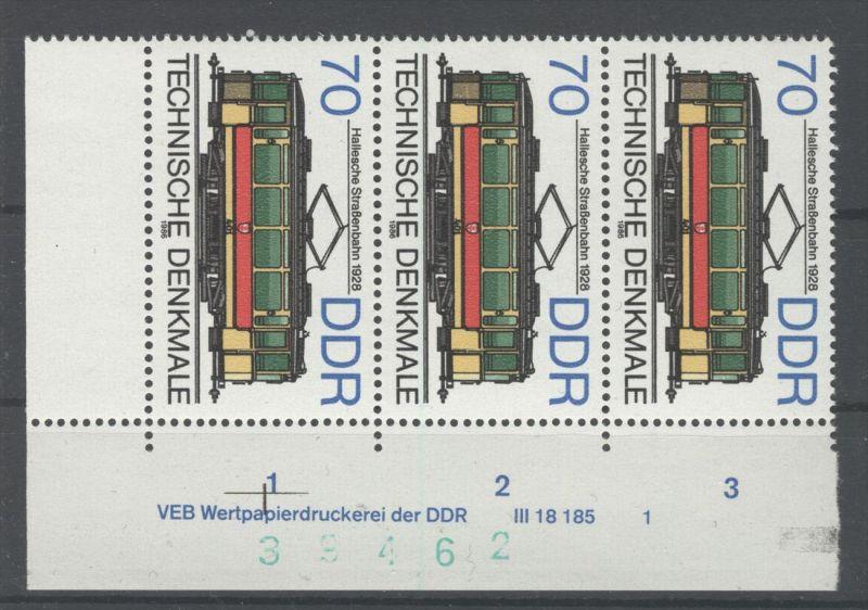 DDR Michel No. 3018 ** postfrisch DV Druckvermerk