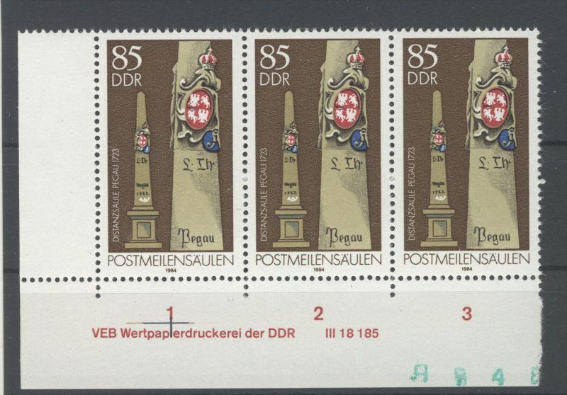 DDR Michel No. 2856 ** postfrisch DV Druckvermerk