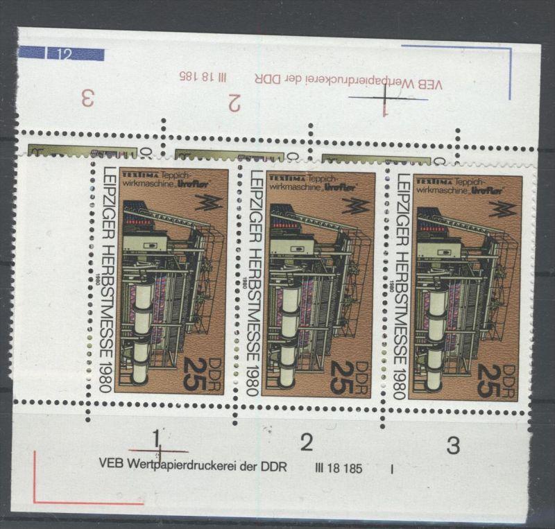 DDR Michel No. 2539 - 2540 ** postfrisch DV Druckvermerk