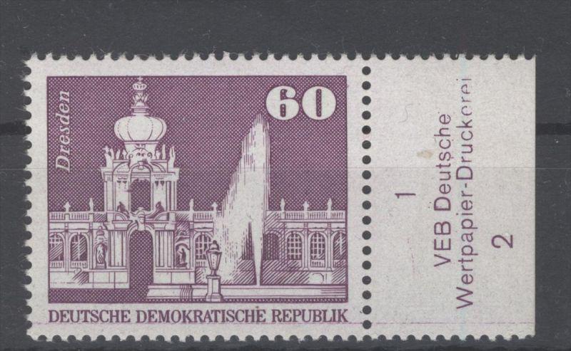 DDR Michel No. 1919 ** postfrisch DV Druckvermerk