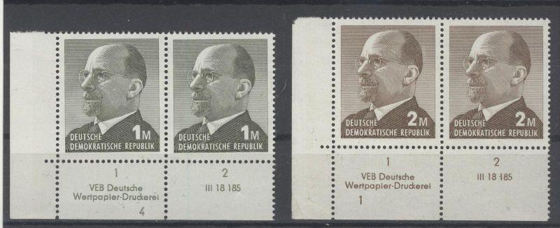 DDR Michel No. 1481 - 1482 ** postfrisch DV Druckvermerk