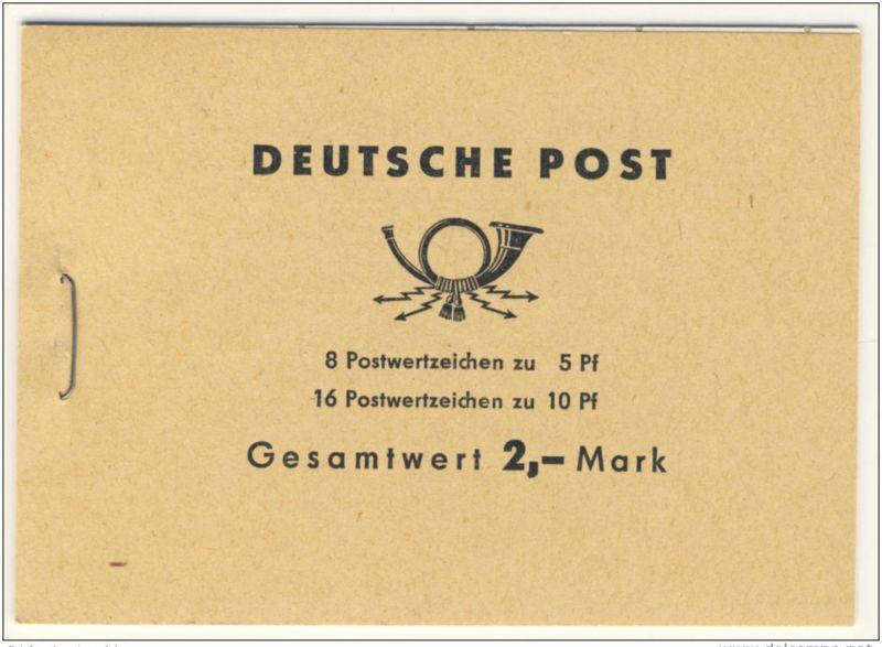 DDR Markenheft MH 4 c 2.1 ** postfrisch Ulbricht