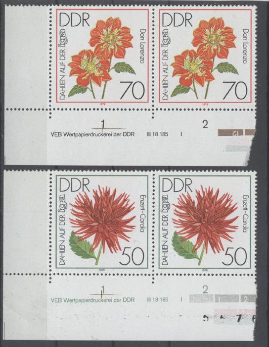 Lot DDR Michel No. 2439 , 2440 ** postfrisch DV Druckvermerk