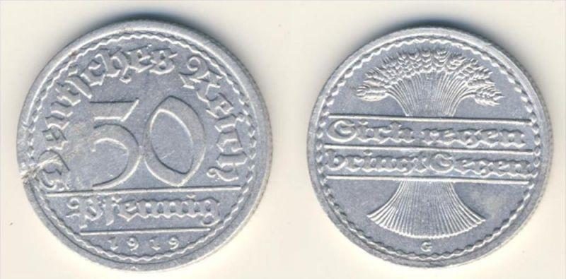 Deutsches Reich 50 Pfennig Michel No. 23 G 1919