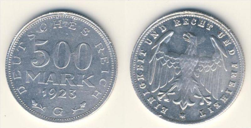 Deutsches Reich 500 Mark Michel No. 27 G 1923