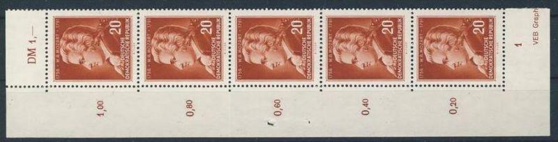DDR Michel No. 511 ** postfrisch Fünferstreifen