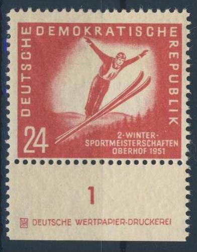 DDR Nr. 281 ** postfrisch DZ Druckereizeichen / gefaltet