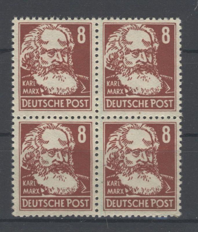DDR Michel No. 329 z X II ** postfrisch Viererblock
