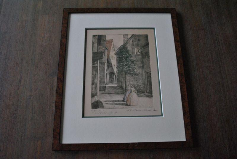 Orginal Zeichnung von Nikolaus Schmidt in einem schönen Rahmen mit Passepartout