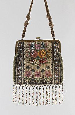 Perltasche Damen-Handtasche Perlstickerei Perlen 25415004