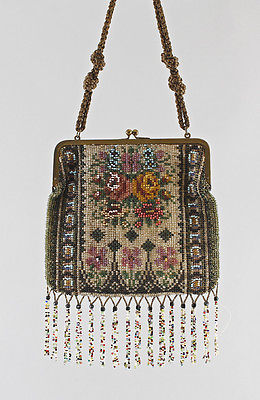 Perltasche Damen-Handtasche Perlstickerei Perlen 7815013