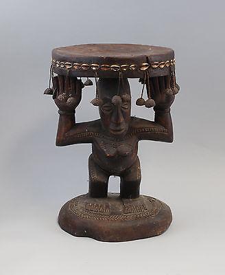 Karyatiden-Hocker Afrika Luba Kongo 20. Jh. Holz geschnitzt 7839003 0