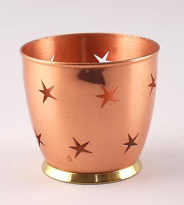 Blumen-Übertopf Kupfer Sterne-Dekor 25433093