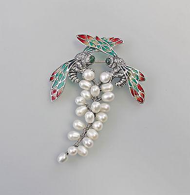 925er Silber modische Perlen-Brosche Libellen  9907246
