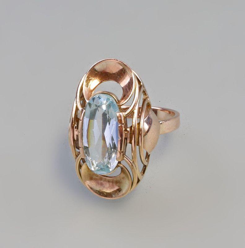 Goldener Aquamarin-Ring 333er Gold Gr. 56 99825225