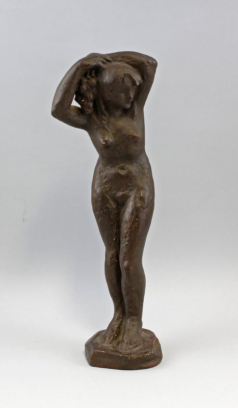 Skulptur sign. Antonin Lhotak Weiblicher Akt Gips-Bozzetto 99838042