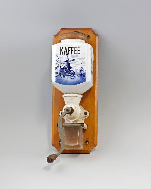 Wandkaffeemühle Leinbrock Holländerdekor um 1930 99845087